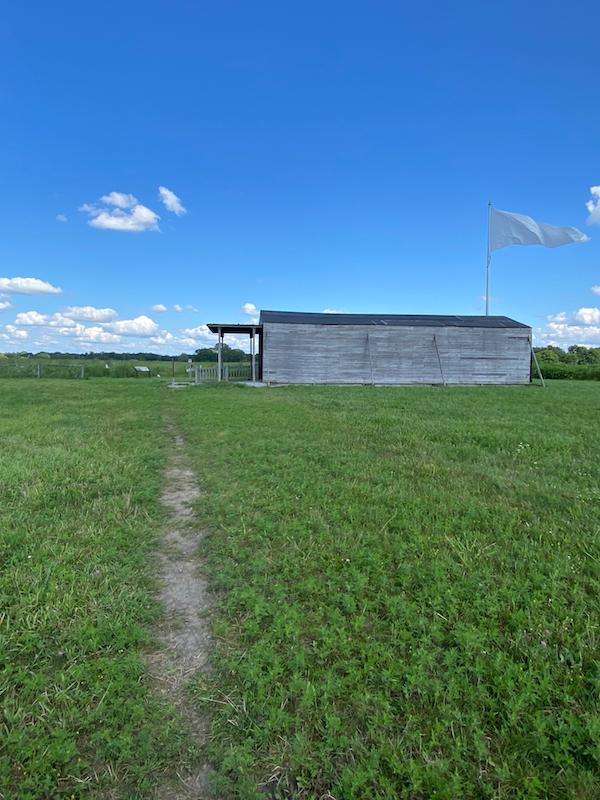 Hangar at Huffman Prairie Flying Field.