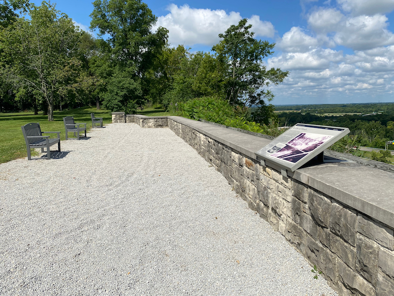 The overlook at the Wright Brothers Memorial in Greene County, Ohio.