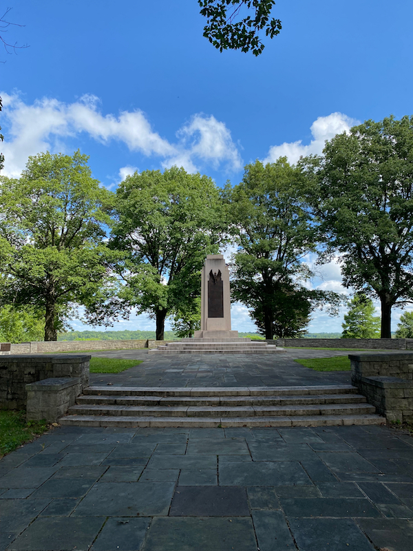 The Wright Brothers Memorial in Greene County, Ohio.
